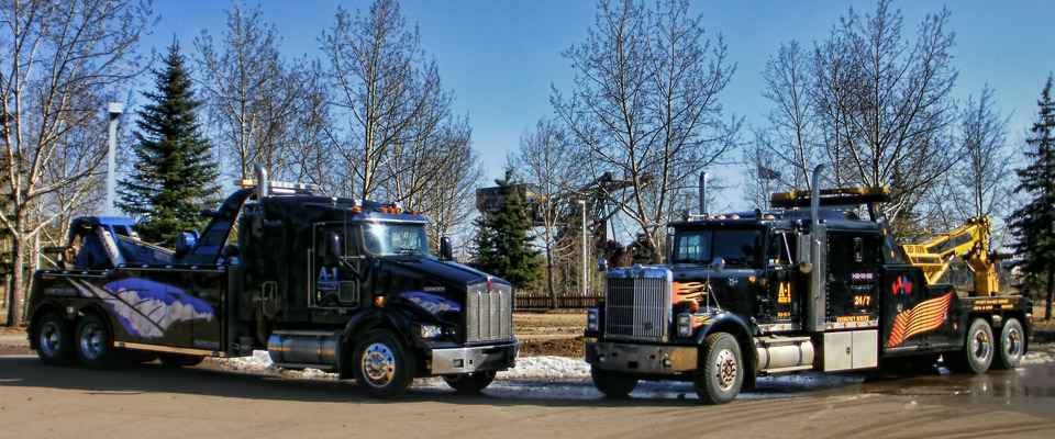 Our towing and hauling trucks